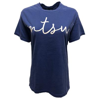 MTSU Comfort Colors Simple Script Tee
