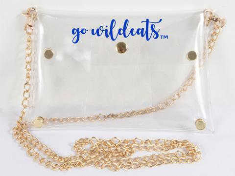 Kentucky Clear Bag With Gold Chain