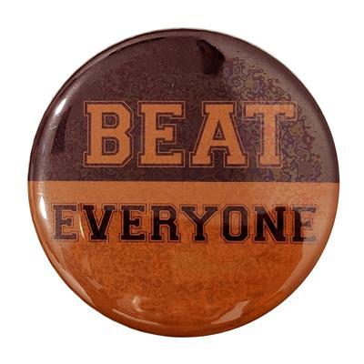 Maroon & Orange Beat Everyone Button