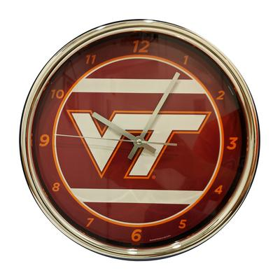 Virginia Tech Chrome Clock