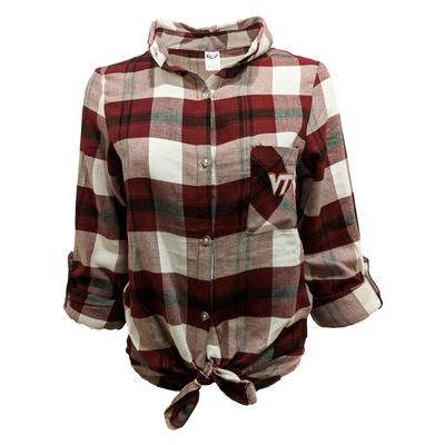 Virginia Tech Women's L/s Flannel Nightshirt