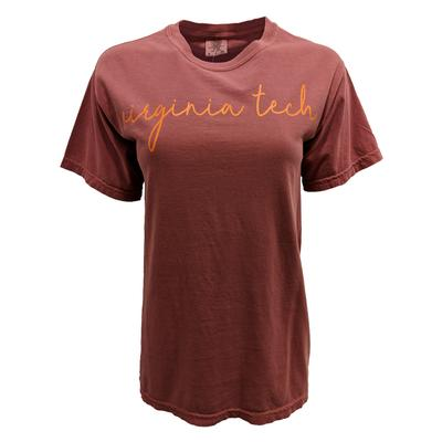 Virginia Tech Comfort Colors Simple Script T-Shirt