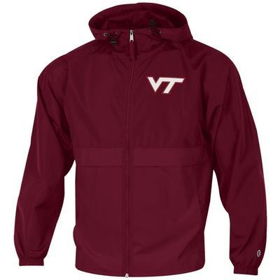 Virginia Tech Champion Full Zip Lightweight Jacket