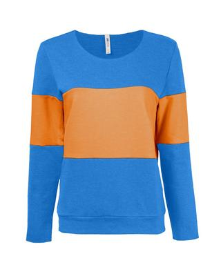 Blue & Orange French Terry Pullover