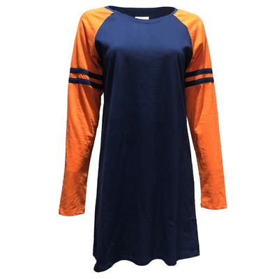 Navy & Orange Stewart Simmons Varsity Dress