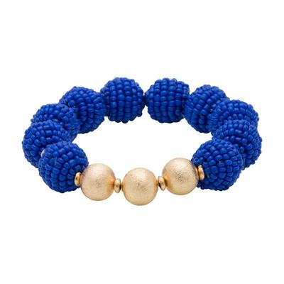 Royal Seed Bead Ball Stretch Bracelet