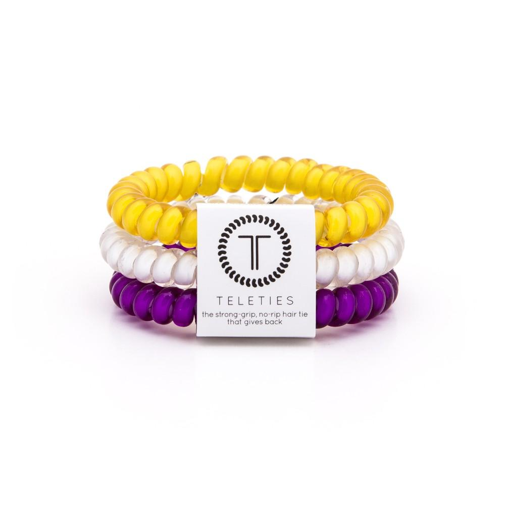 Purple, Yellow & White Small Teleties
