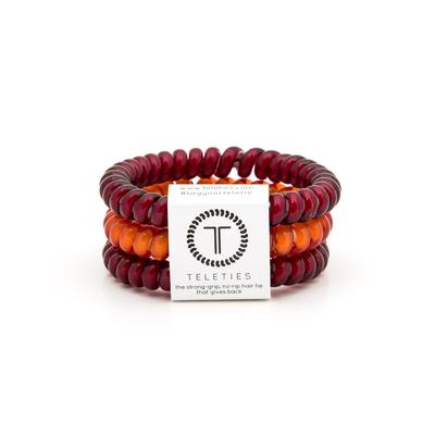 Maroon & Orange Small Teleties