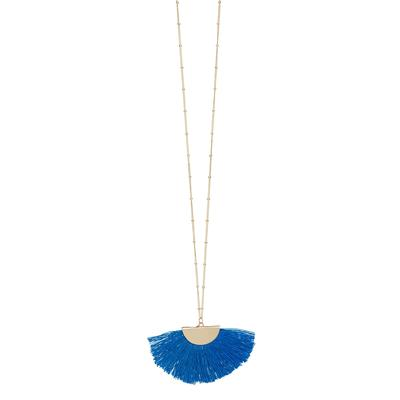 Royal Gold Fan Tassel Necklace