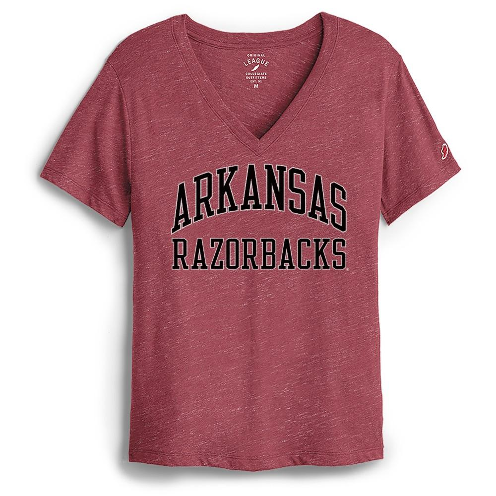 Arkansas League Women's Intramural Boyfriend V- Neck Tee