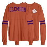 Clemson League Sporty Stripe Rah Rah Long Sleeve Tee