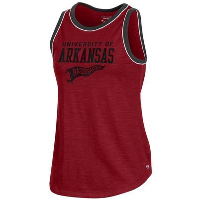 Arkansas Champion Women's Rochester Slub Ringer Tank