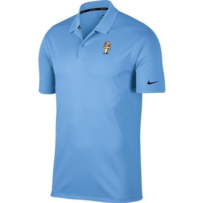 UNC Nike Golf Strutting Rameses Dry Victory Solid Polo