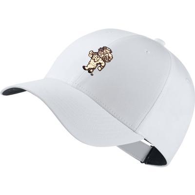 UNC Nike Golf Dri-Fit Strutting Rameses Tech Cap WHT
