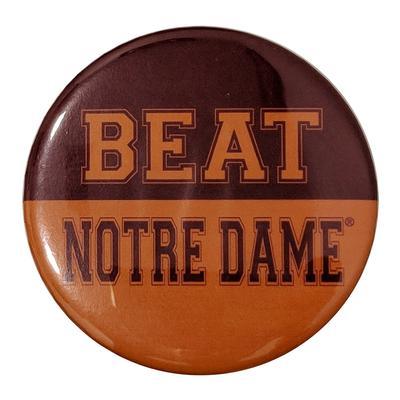 Maroon & Orange Beat Notre Dame Button