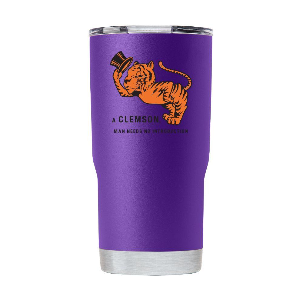 Clemson Gametime Sidekick 20oz Gentleman Tiger Vault Tumbler With Lid