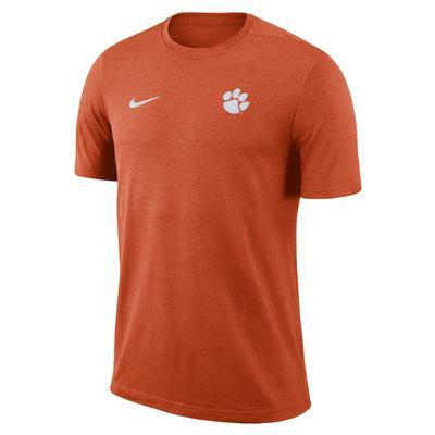 Clemson Nike Short Sleeve Coaches Top UNIV_ORG_HTHR