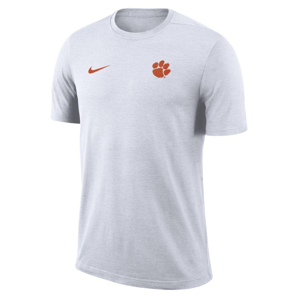 Clemson Nike Short Sleeve Coaches Top