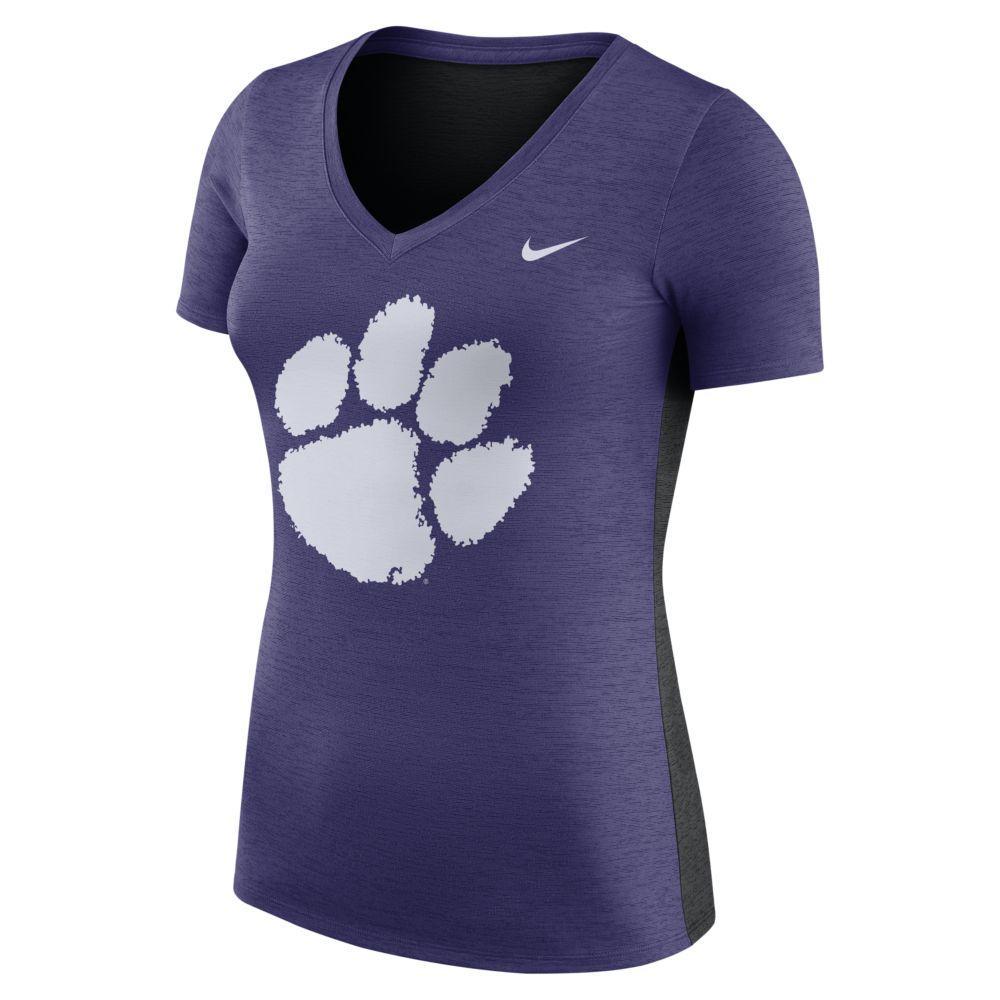 Clemson Nike Women's Dri- Fit Touch Top