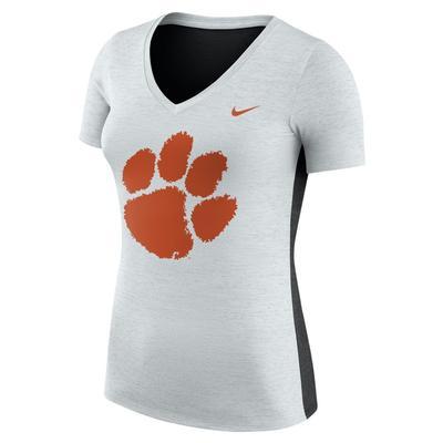 Clemson Nike Women's Dri-FIT Touch Top PLATINUM