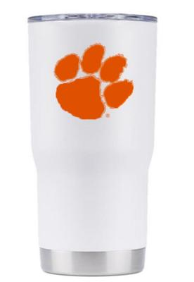 Clemson Gametime Sidekick 20oz Paw Print Outline Tumbler With Lid