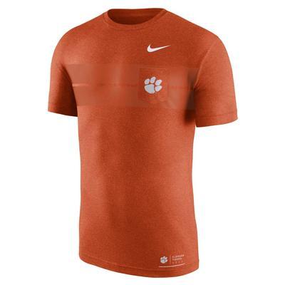 Clemson Nike Marled Logo Pocket Tee