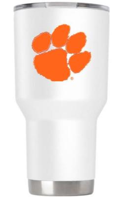 Clemson Gametime Sidekick 30oz Paw Print Outline Tumbler With Lid