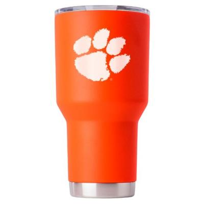 Clemson Gametime Sidekick 30oz Paw Print Tumbler With Lid