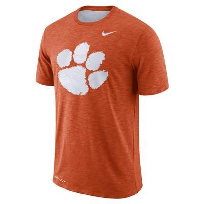 Clemson Nike Dri-FIT Cotton Sideline Slub Tee