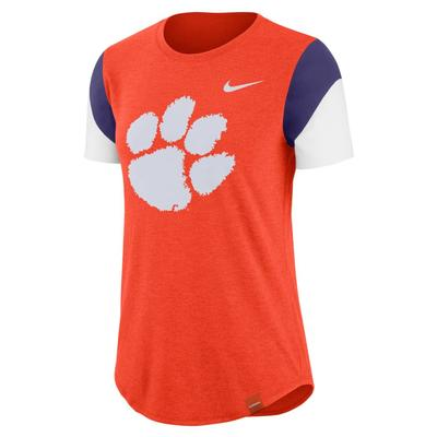Clemson Nike Women's Tri-Blend Fan Crew Top