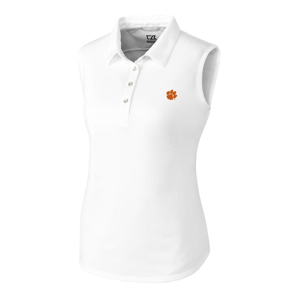 Clemson Cutter And Buck Women's Sleeveless Clare Polo