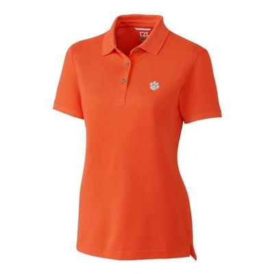 Clemson Cutter And Buck Women's Advantage DryTec Polo