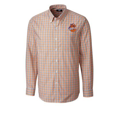 Clemson Cutter And Buck Vault C Tiger Gilman Plaid Woven