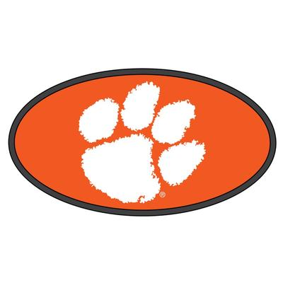 Clemson Hitch Cover White Paw Logo