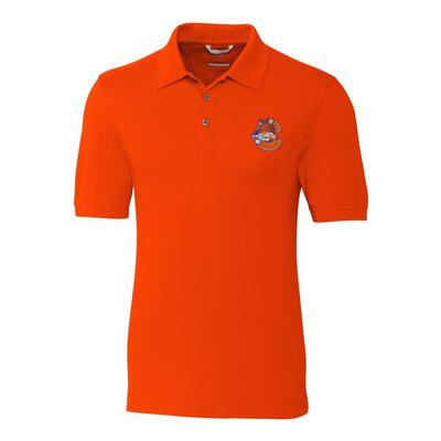 Clemson Cutter And Buck Vault C Tiger Advantage DryTec Polo