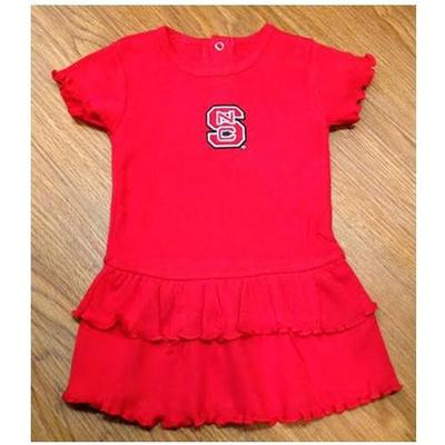 NC State Infant Ruffle Dress