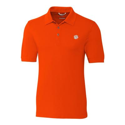 Clemson Cutter And Buck Advantage DryTec Polo