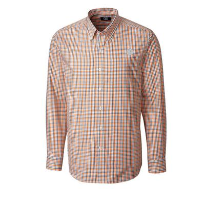 Clemson Cutter And Buck Gilman Plaid Woven