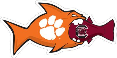 Clemson Decal Clemson Vs South Carolina Rival Fish 3