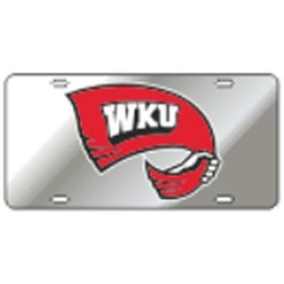 Western Kentucky License Plate Silver With Towel Decal