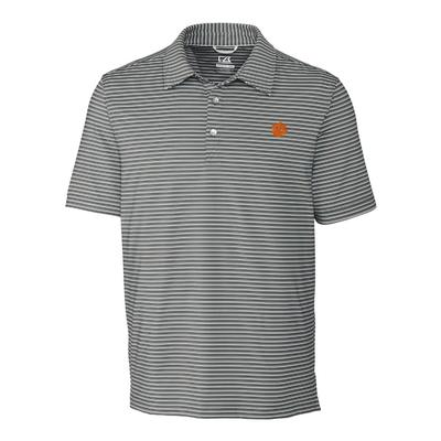 Clemson Cutter & Buck Big and Tall Division Stripe Polo