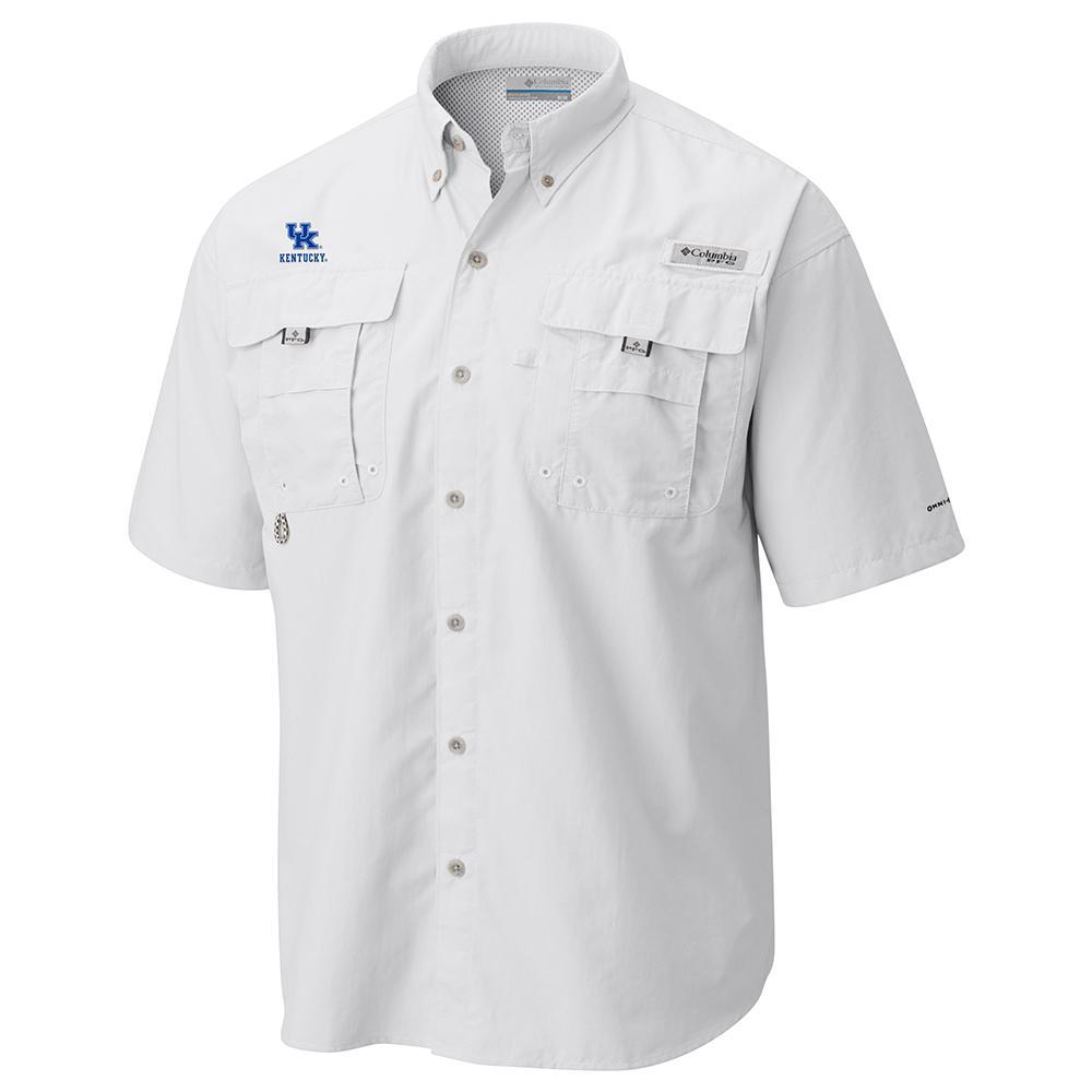 Kentucky Columbia Bahama Short Sleeve Woven Shirt