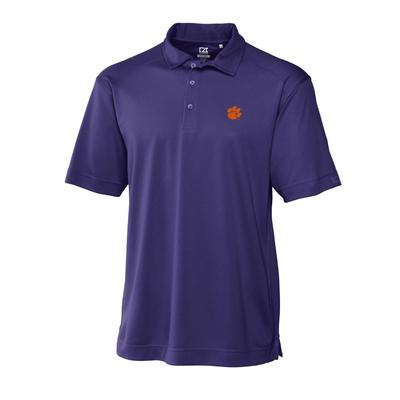 Clemson Cutter and Buck Big and Tall Genre Polo PURPLE