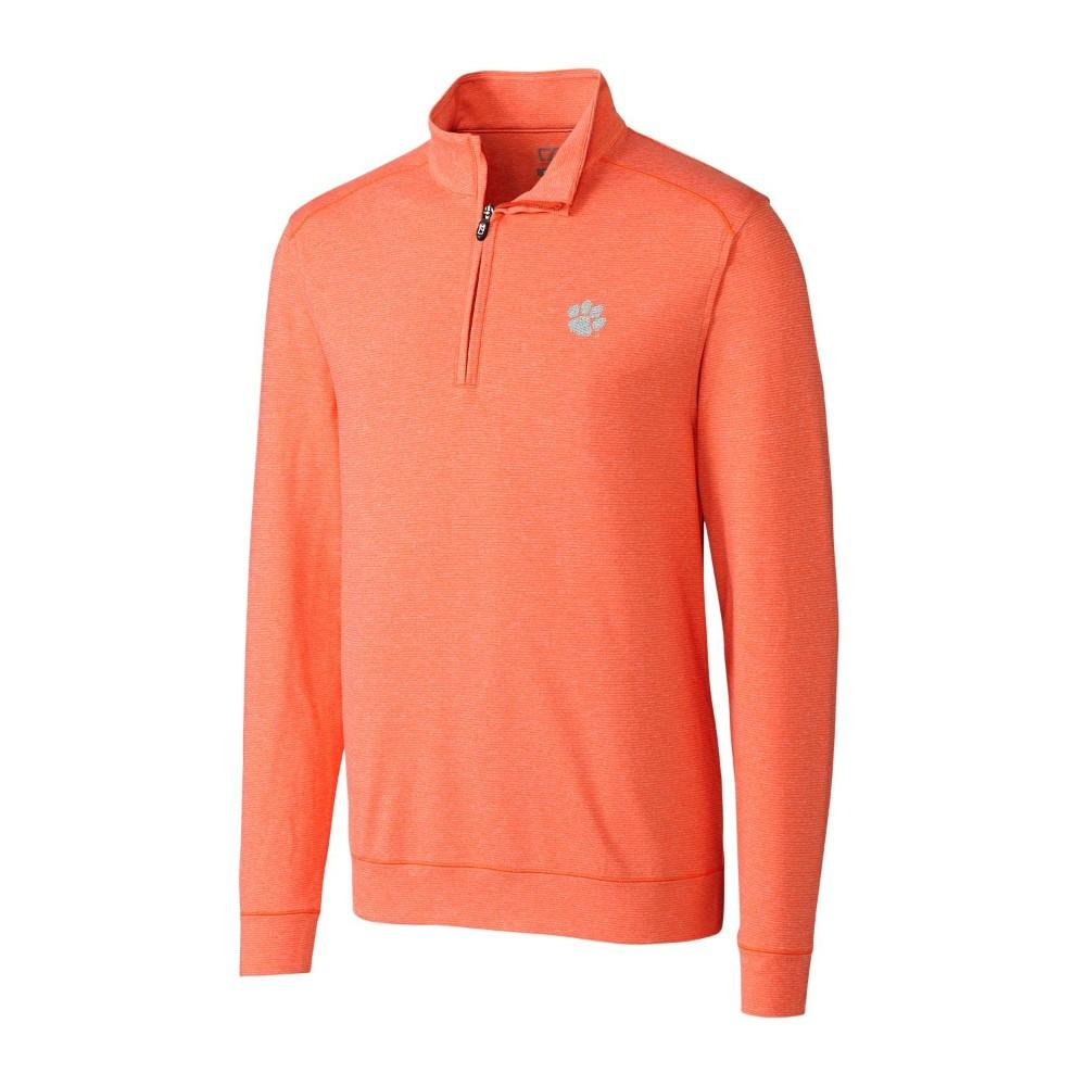 Clemson Cutter And Buck Big And Tall Shoreline 1/2 Zip Pullover