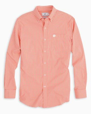 Clemson Southern Tide Gingham Intercoastal Woven Shirt ENDZONE_ORG