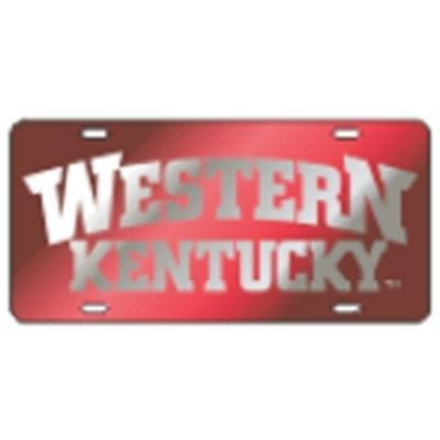 Western Kentucky License Plate Red