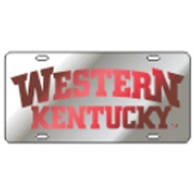 Western Kentucky License Plate Silver
