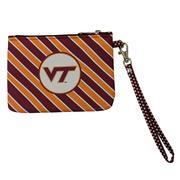 Virginia Tech Striped Wristlet/Id Holder