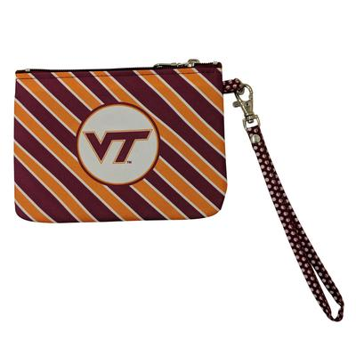 Virginia Tech Striped Wristlet/ID Holder