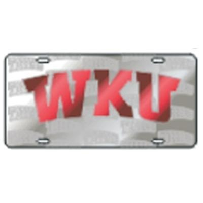 Western Kentucky License Plate Satin with Logos